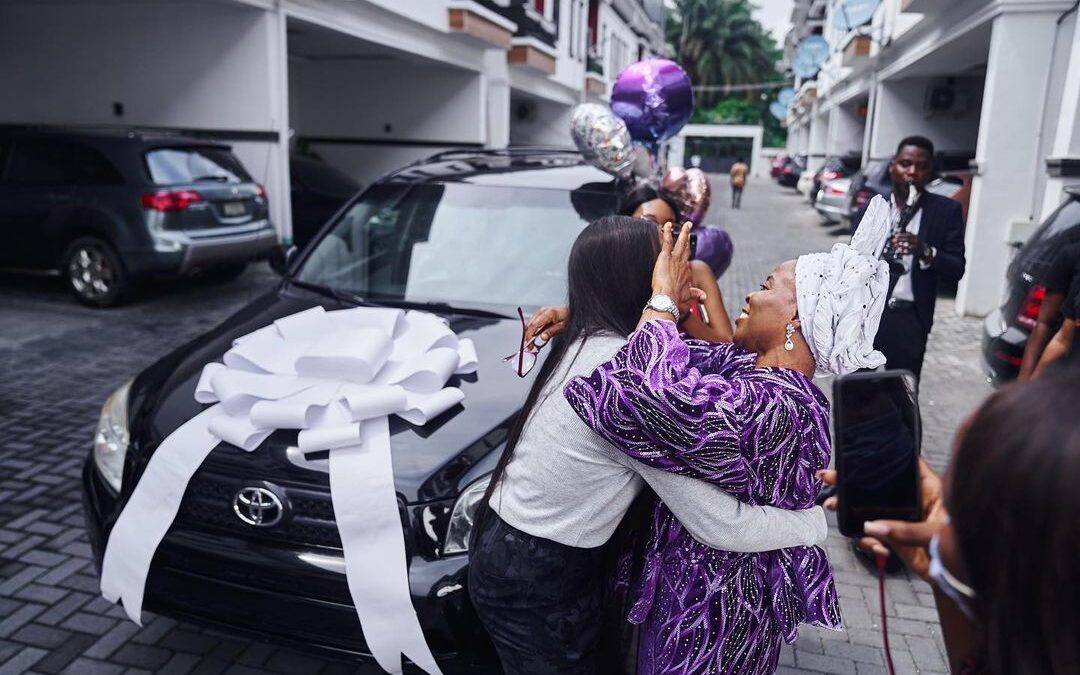 Tomike Adeoye surprises Mum with a brand new car